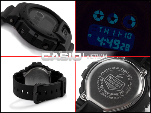 Đồng hồ Casio G-Shock DW-6900BB-1DR Chống sốc cao