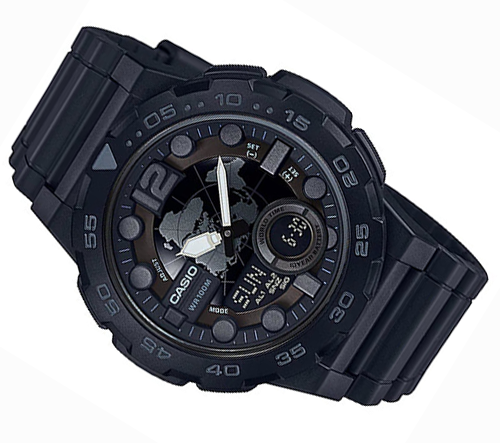 Đồng hồ Casio world time AEQ-100W-1BVDF