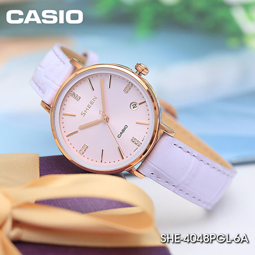 Chi tiết đồng hồ Casio SHE-4048PGL-6AUDR